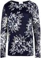 KOIN BLONDE BLUSE 8170261 (Off White/Navy, 3/4)